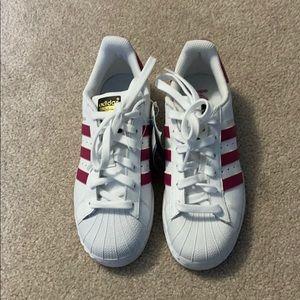 New Adidas Pink Superstar Ortholite Shoes Kids